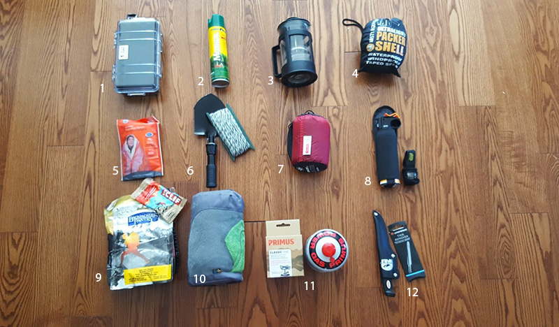 camping gear, cliff, camping, bear spray