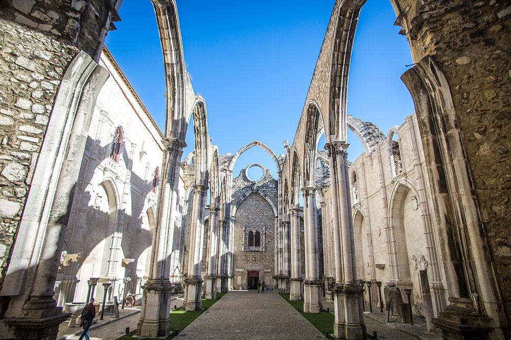 Church in Lisbon; church in lisbon no roof; The Cathedral with no roof; The Cathedral with no roof in Lisbon; Carmo Archaeological Museum; Carmo Lisbon