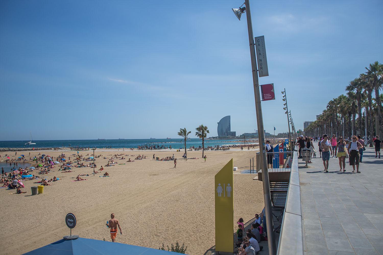 Barceloneta Beach; barcelona beach; beach in barcelona